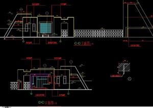 现代工厂大门设计cad施工图