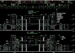 现代风格大门完整设计cad施工图