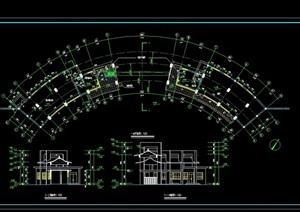 现代风格弧形大门设计cad方案图