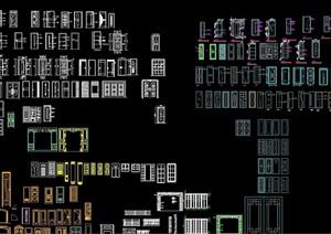 多种不同的常用门窗素材CAD图块