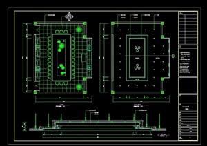 小会议室设计cad平立剖详图
