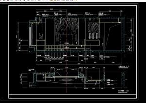 现代电视墙详细设计cad施工图