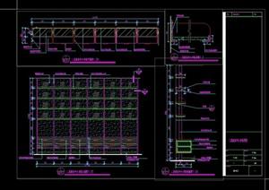 某现代风格详细书柜素材cad施工详图
