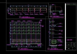 商务中心书柜设计cad施工详图