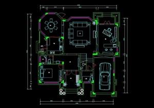 三层别墅cad平面方案图