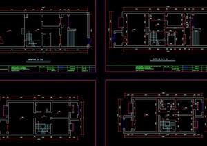 三层别墅空间室内装修cad施工图