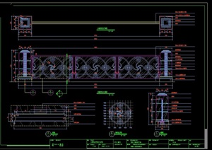 酒店栏杆扶手设计cad施工详图