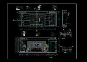 客厅主立面设计cad施工详图
