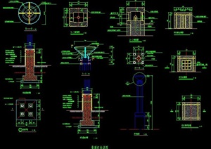 景观灯柱设计详图