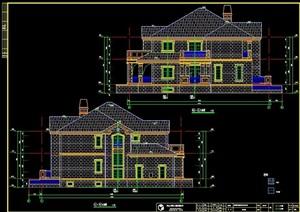 歐式風格二層豪華別墅建筑施工圖