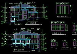 坡地别墅住宅建筑设计图纸