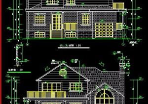 欧式风格豪华别墅住宅建筑图纸