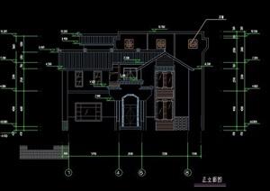 三层中式风格别墅建筑设计方案
