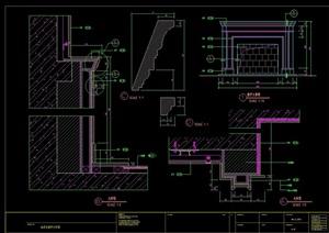 别墅云石壁炉设计cad详图