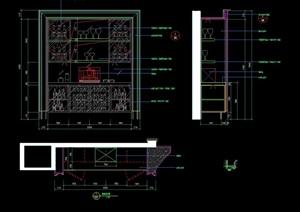 别墅酒柜设计cad施工详图