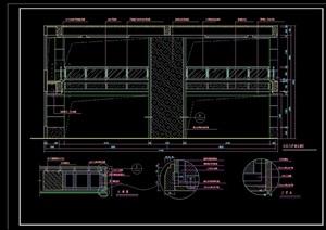 某详细的室内家装构造节点cad施工图