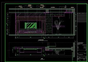 电视背景墙详细完整设计cad施工详图