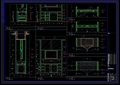 酒店电视柜设计ca施工详图