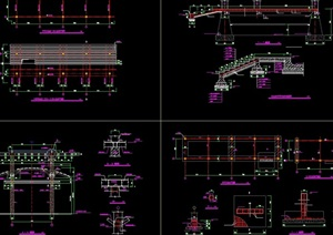 特殊造型亭子详细完整设计cad施工图