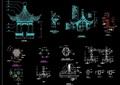 古典中式六角亭设计cad施工图