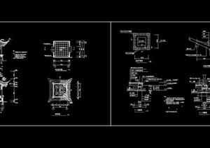 古典中式详细的四角亭cad施工图