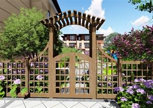 现代别墅庭院景观设计SU(草图大师)模型