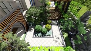法式别墅庭院景观设计su模型