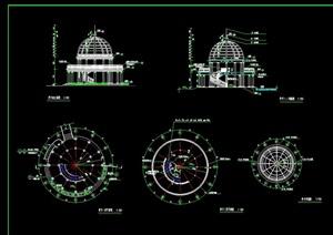 欧式圆形景观亭素材设计cad施工图