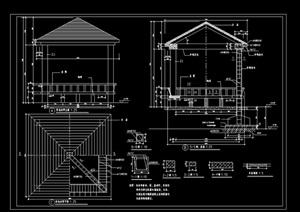 廊亭素材设计cad施工图