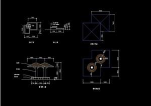 景观亭双亭素材设计cad施工图