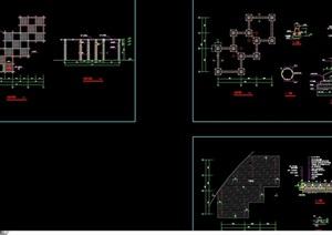 详细的组合廊架cad做法详图