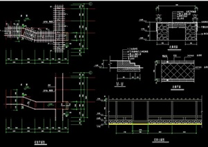 现代风格详细的组合廊架cad施工详图