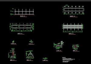 直花架廊设计cad做法详图