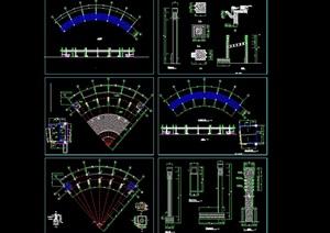 欧式花架廊架设计cad施工做法详图