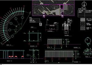 特色门廊详细设计cad施工做法详图