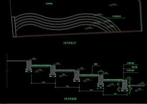 台阶式绿地设计cad施工图