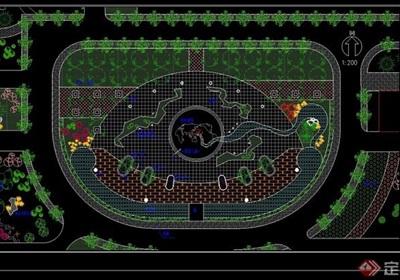 广场景观绿化设计CAD方案