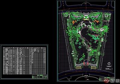 现代风格详细广场景观绿化设计CAD方案