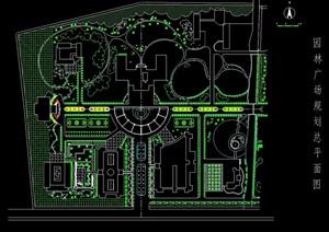 广场规划景观绿化设计CAD方案