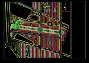 某整体详细的广场景观绿化设计CAD方案