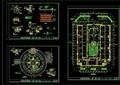 某独特详细广场景观绿化设计CAD施工图