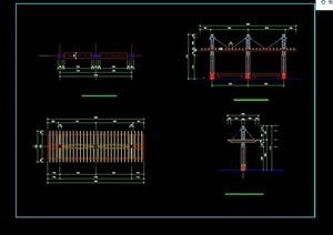 现代景观花架素材设计cad做法详图