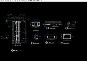 码头廊架素材设计cad做法详图