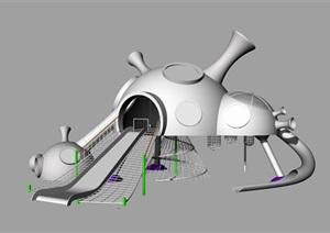 中海望京府外星主题儿童滑梯SU(草图大师)模型