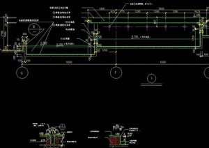 某園林景觀節點水池設計cad剖面圖