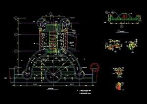 詳細的整體小區水池素材設計cad施工圖