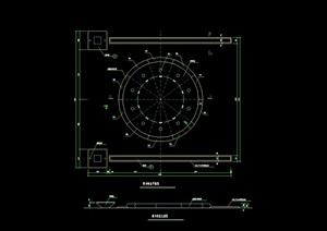 陣列噴泉水池設計cad施工圖