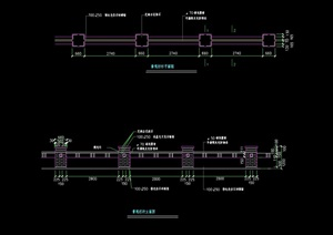 园林景观节点栏杆素材设计cad施工图