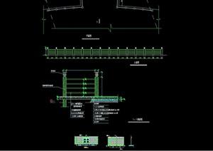 园林景观详细围墙素材设计cad施工图
