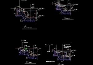 详细的鱼池水池设计cad施工图